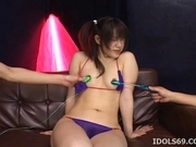 Ai Kousaki Hot Asian chick enjoys her masturbation