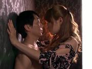 Kinky Japanese babe Tia sucking cock like a true master