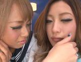 Nice teen Aika Reina loves attending to group fuck picture 8