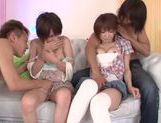 Hot japanese teen Rika Hoshimi enjoys foursome fuck
