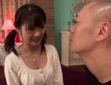 Sexy teen Ruri Nanasawa enjoys huge cock fucking her hard picture 11
