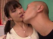 Sexy teen Ruri Nanasawa enjoys huge cock fucking her hard