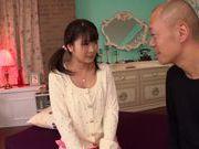 Sexy teen Ruri Nanasawa enjoys huge cock fucking her hard
