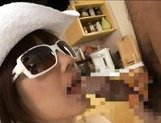 Akina Ishki is a lovely Asian milf sucks cock
