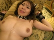 Hot chick with hairy pussy Iroha Suzumura fucked by two guysasian pussy, young asian}