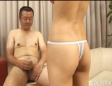 Azumi Harusaki Naughty Asian doll is having fun in a gangbang picture 11