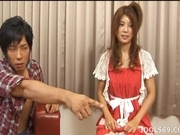 Azumi Harusaki Naughty Asian doll is having fun in a gangbang