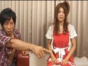 Azumi Harusaki Naughty Asian doll is having fun in a gangbang