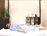 Rio Hamasaki Big Boobed Nurse Enjoys Her Patients picture 2