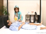 Rio Hamasaki Big Boobed Nurse Enjoys Her Patients