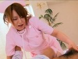 Japanese AV model gets her wet pussy licked picture 9