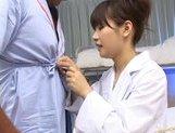 Kinky Asian nurse Akane Ohzora enjoys anal fuck and gangbang action