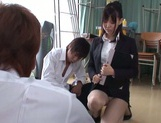 Naughty Japanese teacher Tsukasa Aoi enjoys group sex gets bukkake picture 6