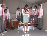 Beautiful Asian stunner Arisa Misato enjoys a kinky group play