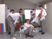 Beautiful Asian stunner Arisa Misato enjoys a kinky group play