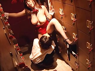 Sexy Asian vixen Rion Nishikawa rides cock for voyeurs