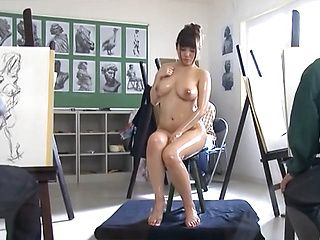 Voluptuous Rion Nishikawa posing in superb ways