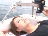 Sexy Asian milf Akiho Yoshizawa is fucked on the boat picture 11