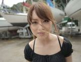 Sexy Asian milf Akiho Yoshizawa is fucked on the boat picture 1