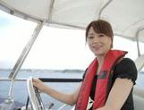 Sexy Asian milf Akiho Yoshizawa is fucked on the boat picture 6
