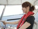 Sexy Asian milf Akiho Yoshizawa is fucked on the boat picture 7