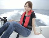 Sexy Asian milf Akiho Yoshizawa is fucked on the boat picture 8