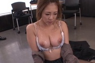 Kinky Asian milf Minori Hatsune surprises her colleagues with oral jobhuge boobs, sex tits