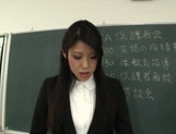Skillful mature teachers arrange hand work at a meeting picture 5