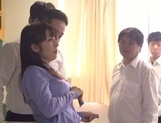 Nasty gang bang with busty teacher Kimika Ichijou picture 2