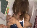 Mischievous Japanese teen Shunka Ayami in group action