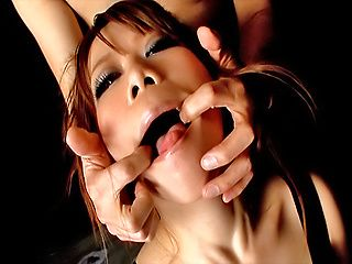 Gorgeous Japanese model Sakura Aragaki gets pussy and anal teased
