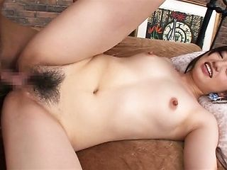 Smiling Asian girl Mana Asahi gets licked and pounded incredibly hard