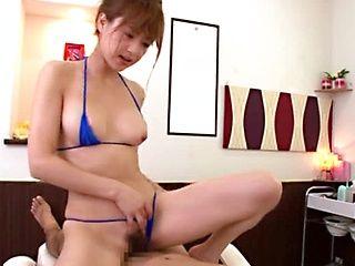 Akiho Yoshizawa Japanese babe enjoys a cock ride