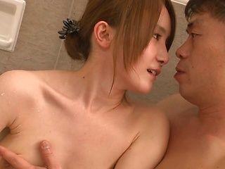 Horny milf Misuzu Tachibana enjoys warm bath