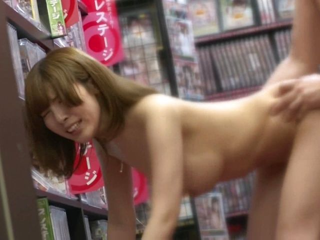 Naughty Japanese milf Yui Akane gets plowed from behind