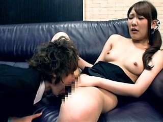 Appetizing office milf is rubbed by her horny colleagues