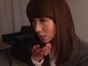 Shizuku Memori amazes with her cock sucking skillsasian pussy, asian babe, young asian}