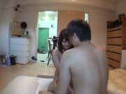 Amateur Japanese AV Model filmed while having hard sex