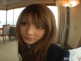 Risa Tsukino Asian schoolgirl is a lovely teen who likes sex