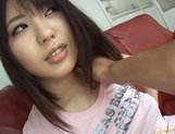 Mona Asamiya Lovely Asian chick who likes rubbing her pussy picture 13