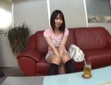 Mona Asamiya Lovely Asian chick who likes rubbing her pussy