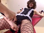 Anno Anjo gets her hairy pussy drilled and loving it asian schoolgirl, japanese pussy}