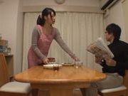 Cute Japanese girl Miku Sunohara rubs her kitty hard