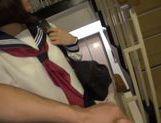 Innocent Japanese schoolgirl Yuri Shinomiya gets fingered