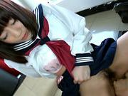 Innocent Japanese schoolgirl Yuri Shinomiya gets fingeredjapanese pussy, asian chicks}