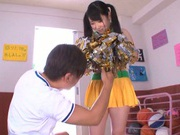 Young Rin Suzume getting ravaged by a horny male