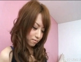 Akiho Yozhizawa Hot Asian babe enjoys showing off her body and sucking cock