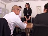 Leggy office chick Asuka gets her head and pussy fucked picture 8