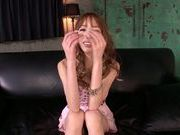 Big balls in mouth of sexy teen Riho Hasegawa