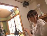 Young Japanese babe gives wild oral satisfaction picture 15